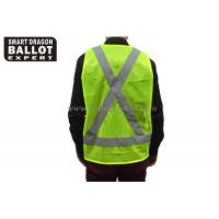 Quality 100% Polyester Fluorescent Yellow Security Vest Clothes Reflective Vest Safety for sale