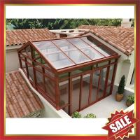 Buy cheap high quality prefabricated solar garden park aluminum alloy transparent glass sun house sunrooms enclosure cabin kits from wholesalers