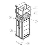 Wholesale Construction Material / People Carrier Rack And Pinion Hoists CH750 750kg Single Cage from china suppliers