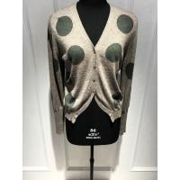 Wholesale Long Sleeve Ladies V Neck Cardigan , Intarsia Ladies Cardigan Sweaters Anti Pilling from china suppliers