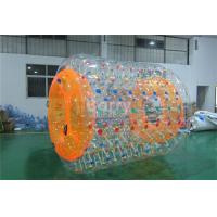Wholesale PVC 0.6 Or 0.9mm Inflatable Water Park Games , Inflatable Water Roller For Adults from china suppliers