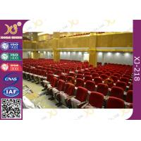 Buy cheap Varnished Upholstered Beech Plywood Church Hall Chairs / Movie Theater Seats from wholesalers