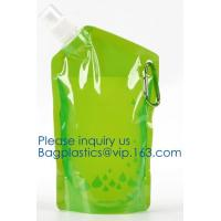 China Customized Climbing Printed BPA Free Foldable T-shirt Shaped Bottle Collapsible Water Bottle Bag,250ml-600ml Foldable Co on sale