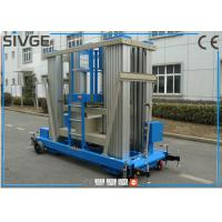 Wholesale Reliable Blue Hydraulic Aerial Work Platform 22 M Height For Business Decoration from china suppliers