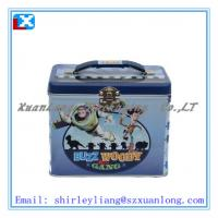 Wholesale Metal Lunch Tin Box with Plastic handle from china suppliers