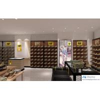 China Sport shoe store interior design by slat wall cabinet with shelves and mesh metal  display counters on sale