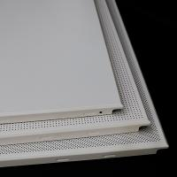 Decorative Suspended Aluminum Square Ceiling Tiles Waterproof Acoustic for sale