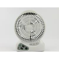 China 6 Inch 3 Blade Mini Rechargeable Electric Fan With Light AC / DC Operated on sale