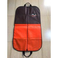 China Handle Suit Garment Bag Travel Colored Non Woven Printed With Clips 115*60 cm Size on sale