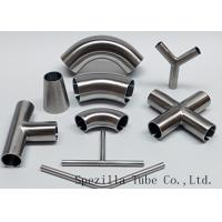 """Wholesale Equipment Usage Sanitary Valves And Fittings Stainless Steel Tee Welded End 1""""x1""""x1"""" from china suppliers"""