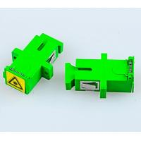 Wholesale Optical Fiber SM Simplex SC-APC Couplers With Anti-dust Cover/Caps Singlemode SC-SC Adapter Female SC Optic Fiber Flange from china suppliers