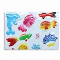 Wholesale Puffy Stickers with Soft Transparent PVC, Available in Various Sizes from china suppliers