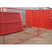 Wholesale PVC Coated Temporary Construction Fence Canada Standard 10x6 FT Event Movable Fence from china suppliers