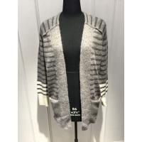 Quality Stripe Womens Cardigan Sweaters With Wool Nylon Alpaca Material 7 Big Gauge Size for sale