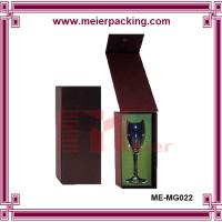 Wholesale Glass cup paper box, custom magnetic closure single cup paper gift box ME-MG022 from china suppliers