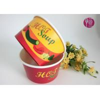 Wholesale Noodle 15oz Disposable Soup Bowls With Plastic Lid / Double PE Paper from china suppliers