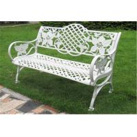 China Waterproof Decorative Outdoor Furniture Steel Garden Bench 1290 * 590 * 850mm on sale