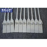 Wholesale Plastic Numbered Security Seals For Ballot Box , Pull Tight Seal White from china suppliers