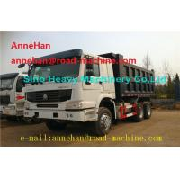 Quality EuroII 30T 6x4 Cat Dump Truck With Middle Lifting And Q235 Steel Material for sale
