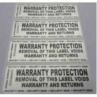 Wholesale Custom Printing Permanent Security Labels / Alarm Stickers Waterproof Anti Counterfeit from china suppliers