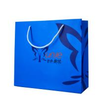 Blue Personalised Paper Bags Full Color Printing Small Paper Gift Bags for sale