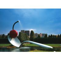 Wholesale Large Painted Spoon Sculpture Stainless Steel Water Feature Unique Design from china suppliers