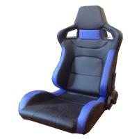 Wholesale PVC Adjustable Blue And Black Racing Seats / Sports Car Seat with single slider from china suppliers