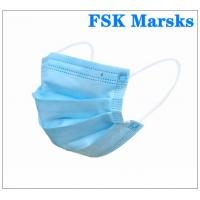 Wholesale Anti Spray 3 Ply Surgical Face Mask With Melt Blown Cloth , EN14683 Type I from china suppliers