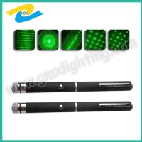 Wholesale 5 mw -200 mw  green laser pointer pen with 5 changeable heads from china suppliers