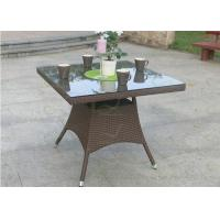 Wholesale Square Shape Brown Color Patio Dining Tables Garden Outdoor Wicker Table from china suppliers