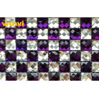 Wholesale Unique Purple Laminated Mirror Glass Mosaic Floor Tiles With Acid - Proof from china suppliers