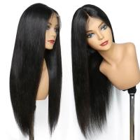 China 150% Density Brazilian Full Lace Human Hair Wigs With Baby Hair For Black Women for sale