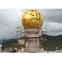 Wholesale Stunning Huge Metal Sphere Sculpture , Stainless Steel Garden Sculptures from china suppliers