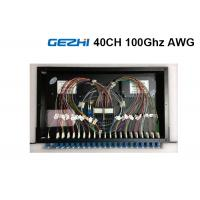 Quality 40  Channels Arrayed Waveguide Grating Passive Optical Network Rackmount Module for sale