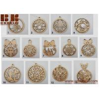 Wholesale Wooden Christmas balls  decoration for Christmas tree Christmas tree decorations 4 x 3 inchs from china suppliers