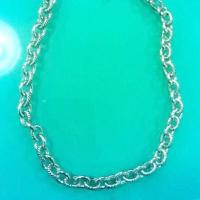Buy cheap (N-22) Fashion Jewelry Women' s Necklace Silver Plated Oval Link Chain 18 inches from wholesalers