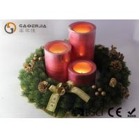 Wholesale Decorative Led Candles , Advent Wreath Votive Candles Warm White from china suppliers