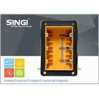 Buy cheap Three gang plastic outlet boxes with covers , electrical outlet box from wholesalers