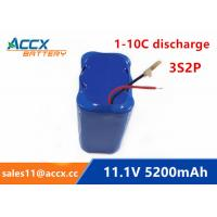 Wholesale 11.1V 12V 5200mAh li-ion battery 4400mAh 5000mAh 3S2P 18650 rechargeable battery for led light from china suppliers