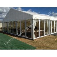 Buy cheap Transparent Glass Wall Outdoor Luxury Dinner Party Tents With Gorgeous Ornaments from wholesalers
