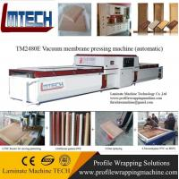 Wholesale wood color pvc antique cabinet door vacuum membrane press machine from china suppliers