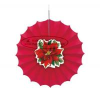 Wholesale Christmas Home Decorations Paper Fan Round Folding Fans Hanging Party from china suppliers