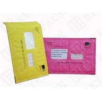 Wholesale Custom Made Recycled Kraft Bubble Mailer Green / Pink With Window from china suppliers