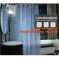 Wholesale Mould Proof Waterproof white and black trellis design pvc custom bath curtain printed shower curtain, High quality Polye from china suppliers