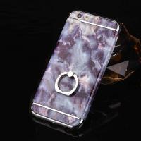 Hard PC 3 in 1 Plating Border Marble Grains Ring Buckle Cell Phone Case Cover For iPhone 7 7 Plus 6 6s Plus for sale