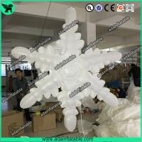Wholesale 1.5m 210T Polyester Cloth White Inflatable Snowflake For Christmas Decoration from china suppliers