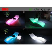 Wholesale Pool Side LED Lounge Chair PE Glowing Chaise With Rechargeable Lithium Battery from china suppliers