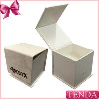 Wholesale Special Paper White Black Leatherette Hinged Folding Foldable Jewellery Jewelry Box with  Sponge Pad from china suppliers