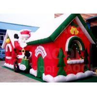 Wholesale Cuatomized Merry Christmas Inflatable Santa Claus Bouncy Castle For Xmas Decoration from china suppliers