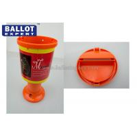 Quality Color Customized Plastic Charity Collection Boxes Polypropylene Material With Lid for sale